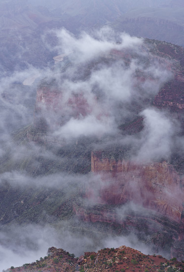 Fog Over Grand Canyon  by jgpittenger