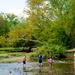 Family fun at the creek