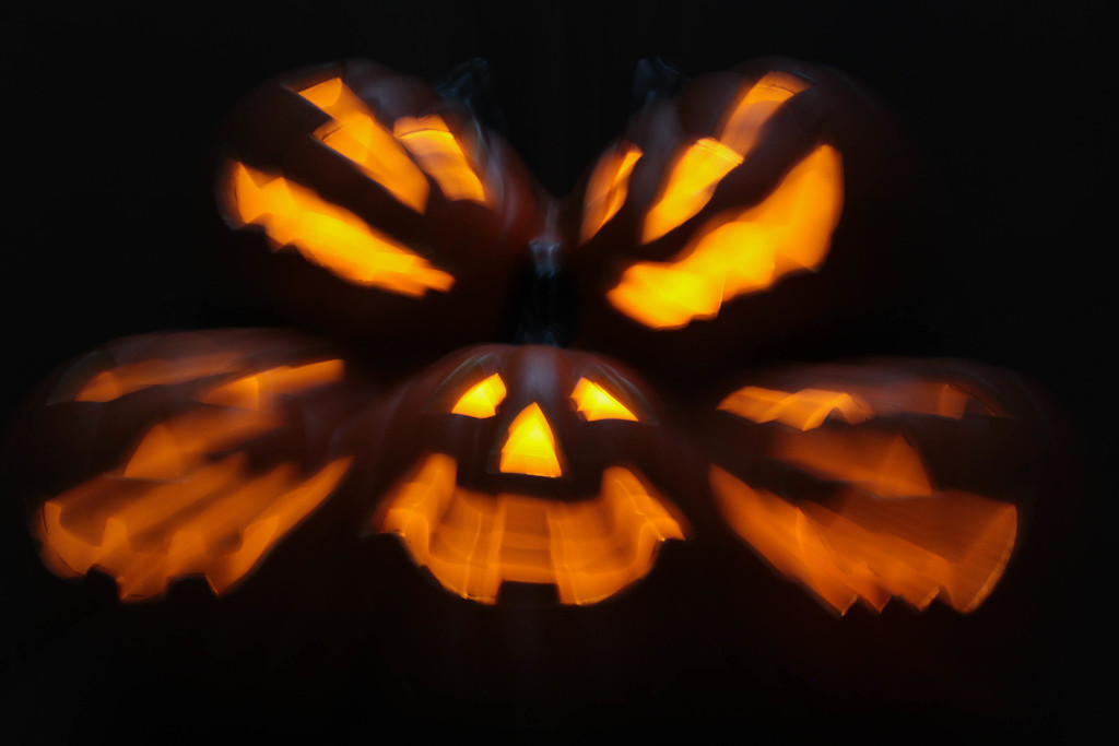 Very scary pumpkins by mittens