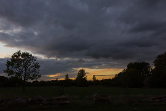 Sunset over Cannon Hill Common by rumpelstiltskin