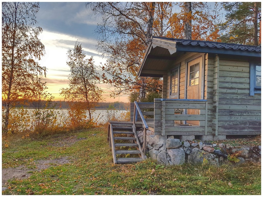 Cabin at the lakeside by lyndamcg