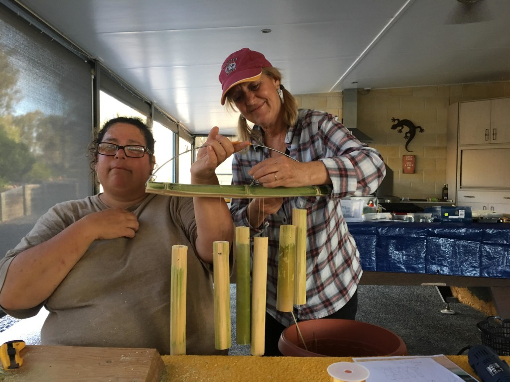 Making bamboo wind chime  by kerenmcsweeney