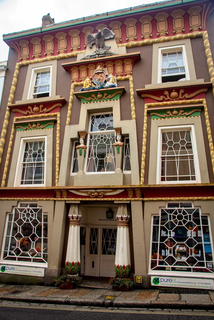 The Egyptian House in Penzance by swillinbillyflynn