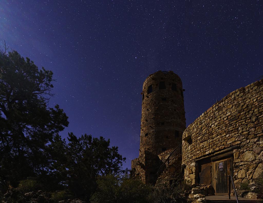 Watch Tower In Moonlight by jgpittenger