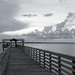 Pier and Clouds in B&W!
