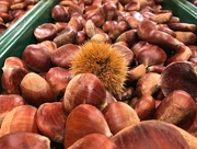 22nd Oct 2018 - Roast chestnuts plus one with its coat on!