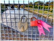 1st Nov 2018 - Every time we walk over this bridge I just have to take a shot of this colourful lock! There are hundreds on the bridge but this one always catches my eye