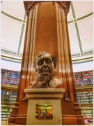 3rd Nov 2018 - The new sculpture of Ken Dodd - looking serious!