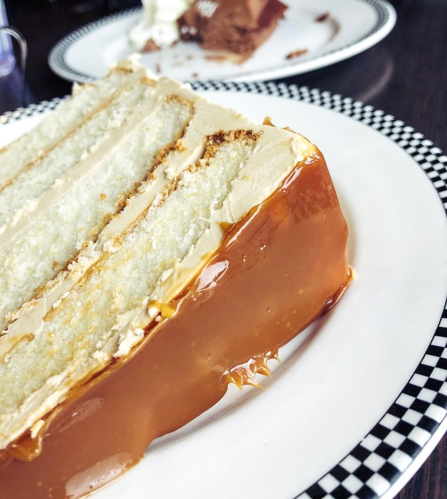 Salted caramel angel cake by cristinaledesma33