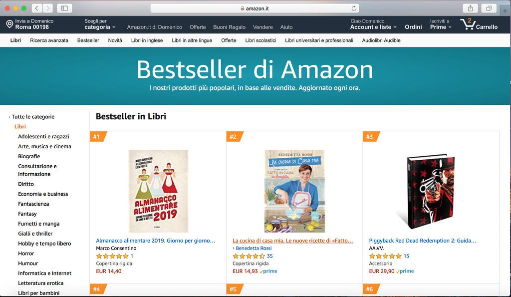 Ranking #1 bestseller on Amazon (Italy) by domenicododaro