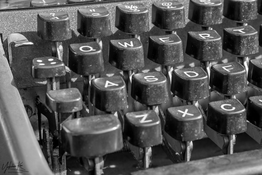 Typewriter Key by yorkshirekiwi