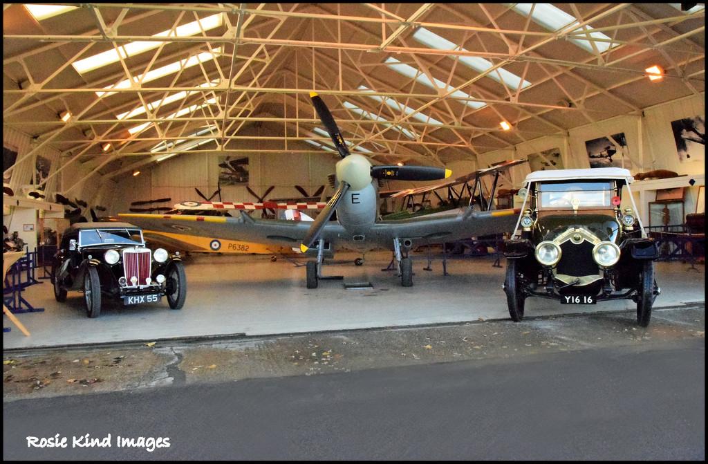 Inside Hangar 2 Shuttleworth by rosiekind