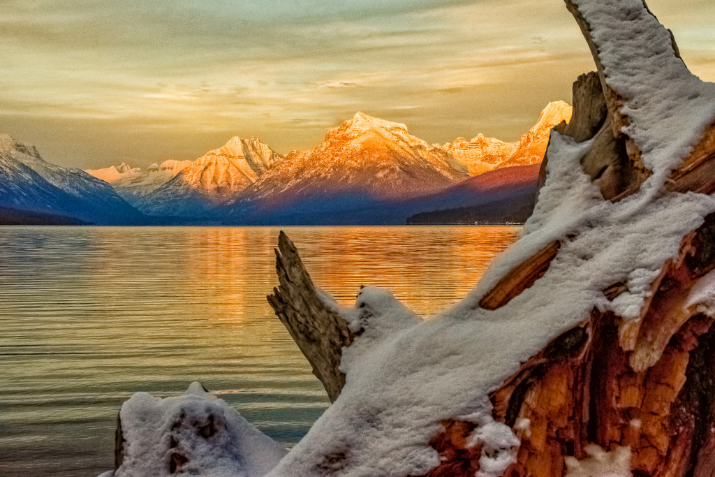Blue Hour Sunset - Lake McDonald in Glacier Park by 365karly1
