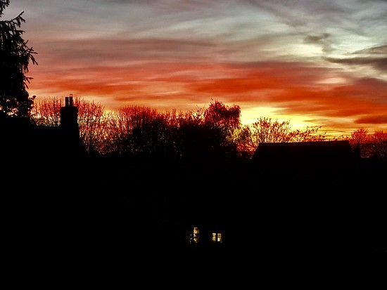 Sunset from a Work Window  by carole_sandford