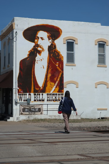 Wild Bill Hickock, a folk hero of the American Old West by louannwarren