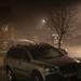A foggy night