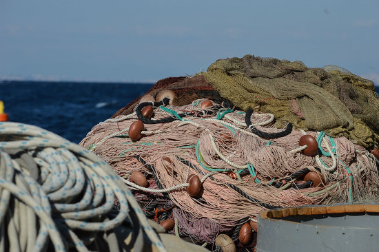 fishing nets in Sorrento by caterina