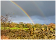 20th Nov 2018 - A double rainbow- just read up about them and as they are a reflection the colours on the reflected rainbow are reversed!