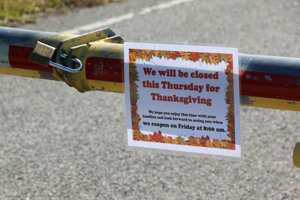 Closed for Thanksgiving by ingrid01