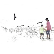 """22nd Nov 2018 - """"Mom,let's feed the gulls some laxative and  see what happened""""?"""