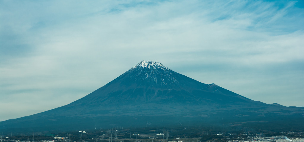 Mt Fuj from the train by tokyobogue