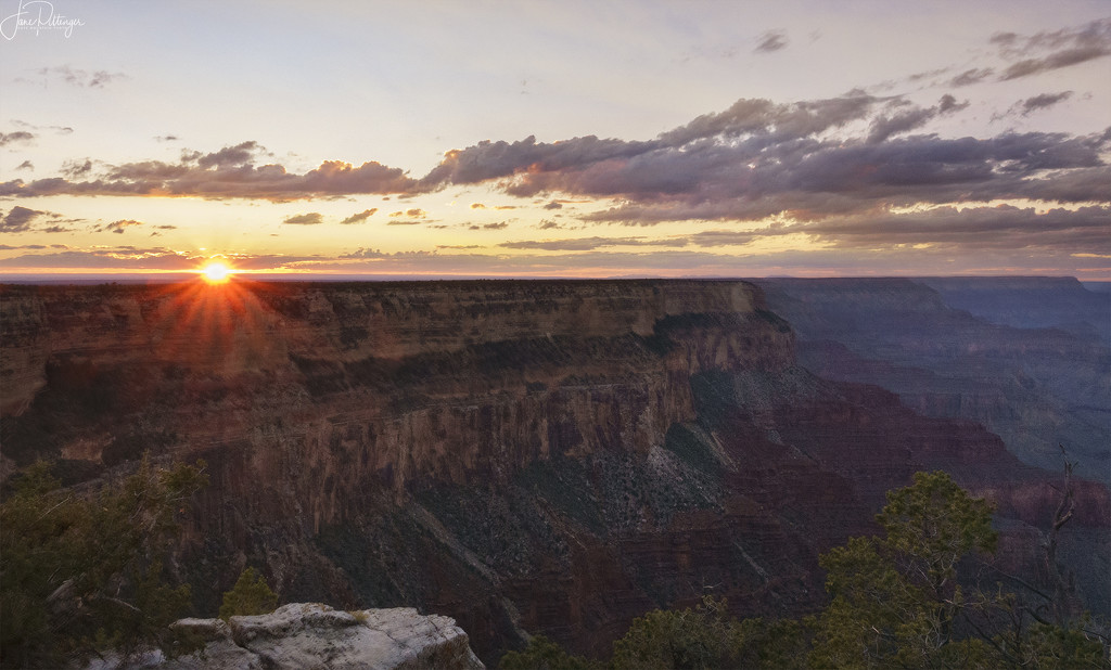 Sunflare Over the Canyon by jgpittenger