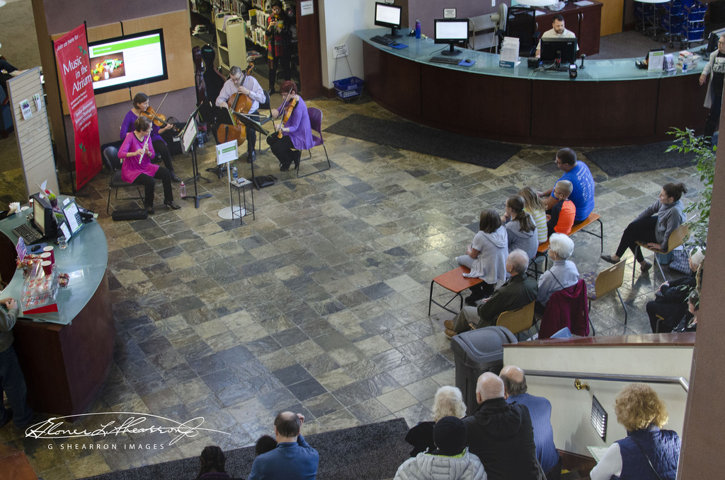 Concert in the library atrium by ggshearron