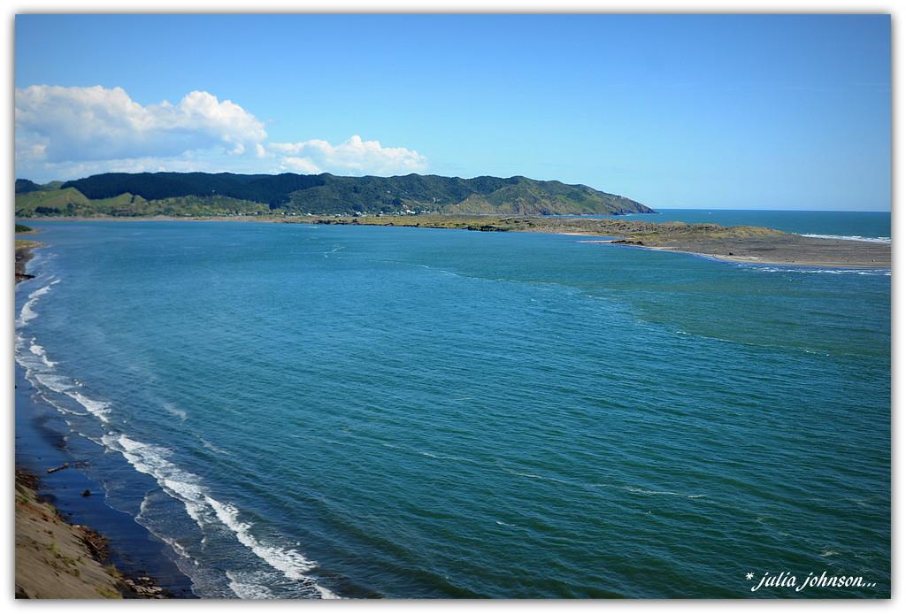 Maioro Bay .. looking to Port Waikato .. by julzmaioro