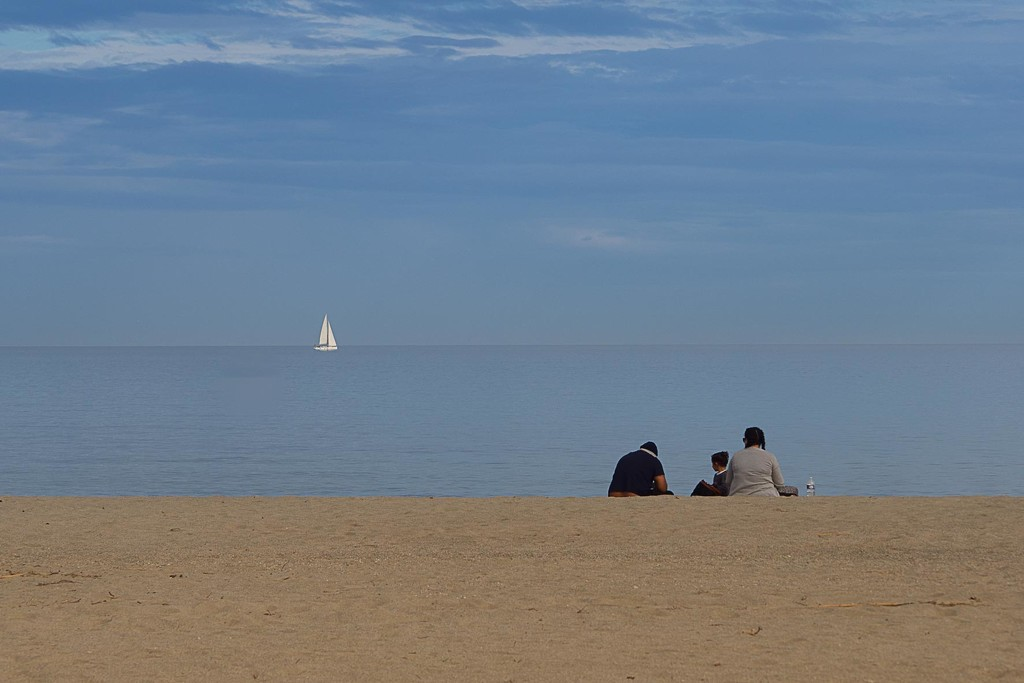 Alone at the beach by laroque