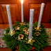 This is my Advent wreath for the first Sunday in Advent