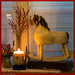Santa Leaves Quaint Old Rocking Horse