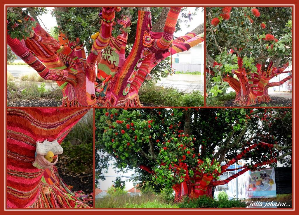Knitted Pohutukawa.. New Zealand Christmas Tree.. by julzmaioro
