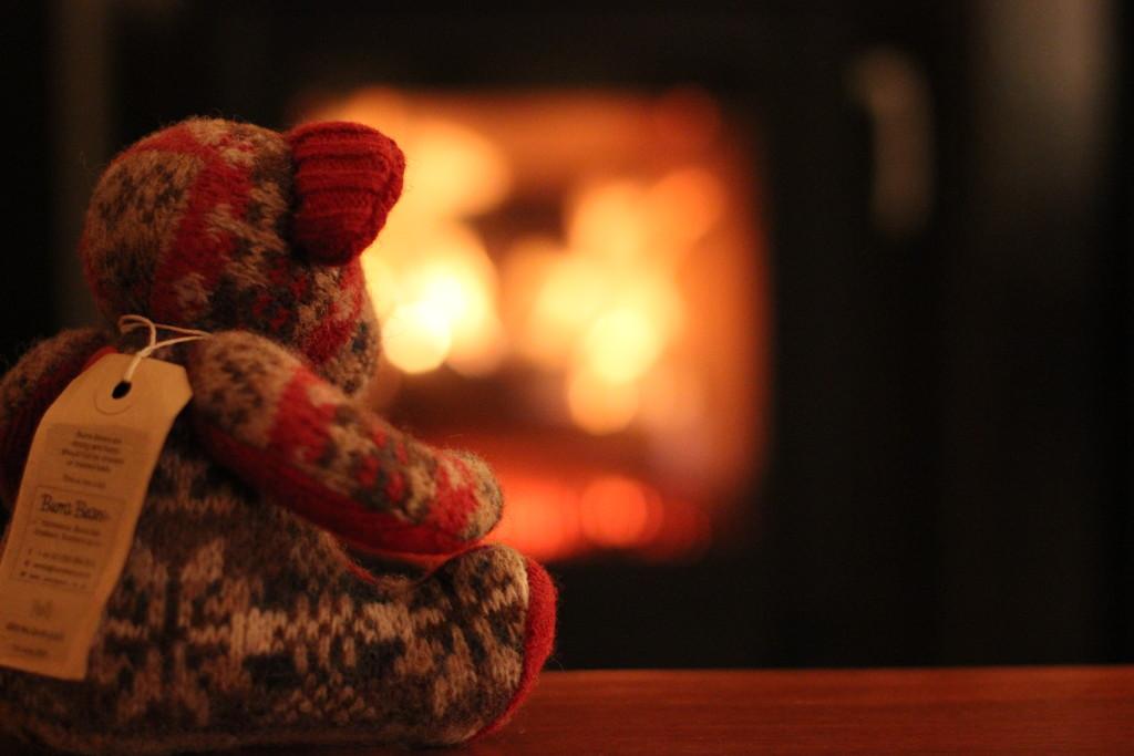 Enjoying the new wood burning stove by jamibann