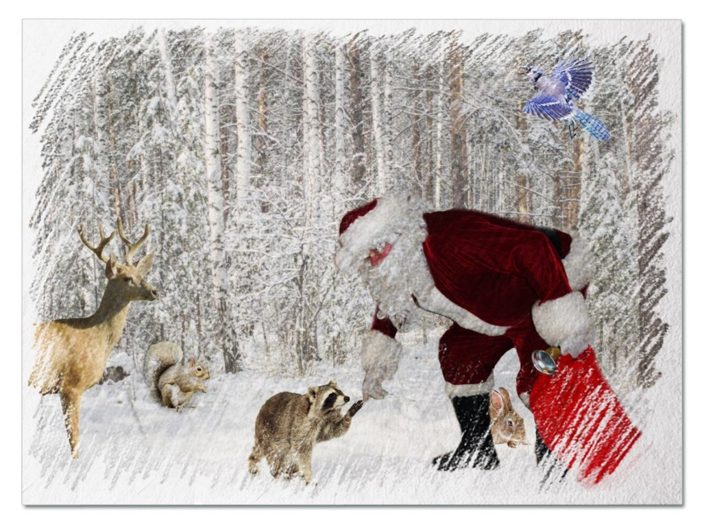 Santa and Wildlife by not_left_handed