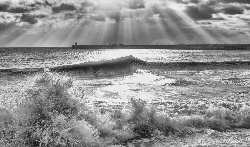 Sun on the Waves by fbailey