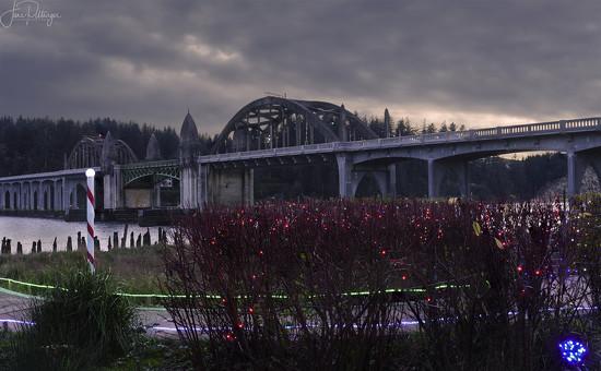 Bridge At Christmas by jgpittenger