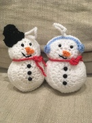 11th Dec 2018 - Crocheted Snowmen
