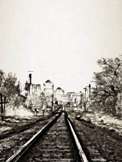 Tracks into Albuquerque by janeandcharlie
