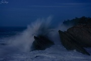 15th Dec 2018 - Twilight Surf At Shore Acres lightened