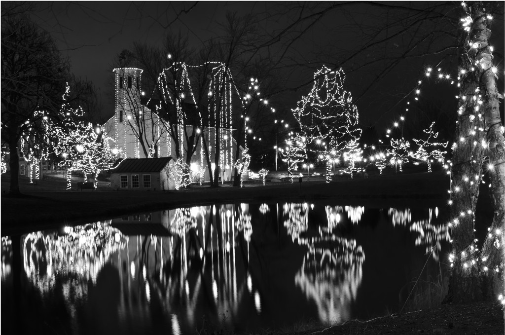 Christmas lights in B&W by ggshearron