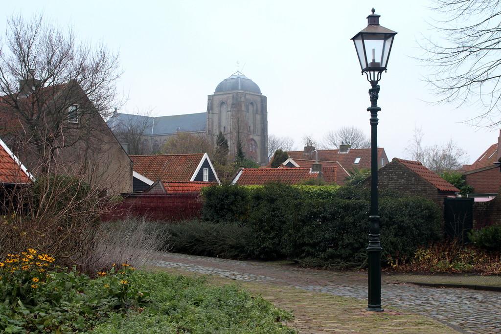 View on the Grote Kerk (Big Church) Veere  by pyrrhula