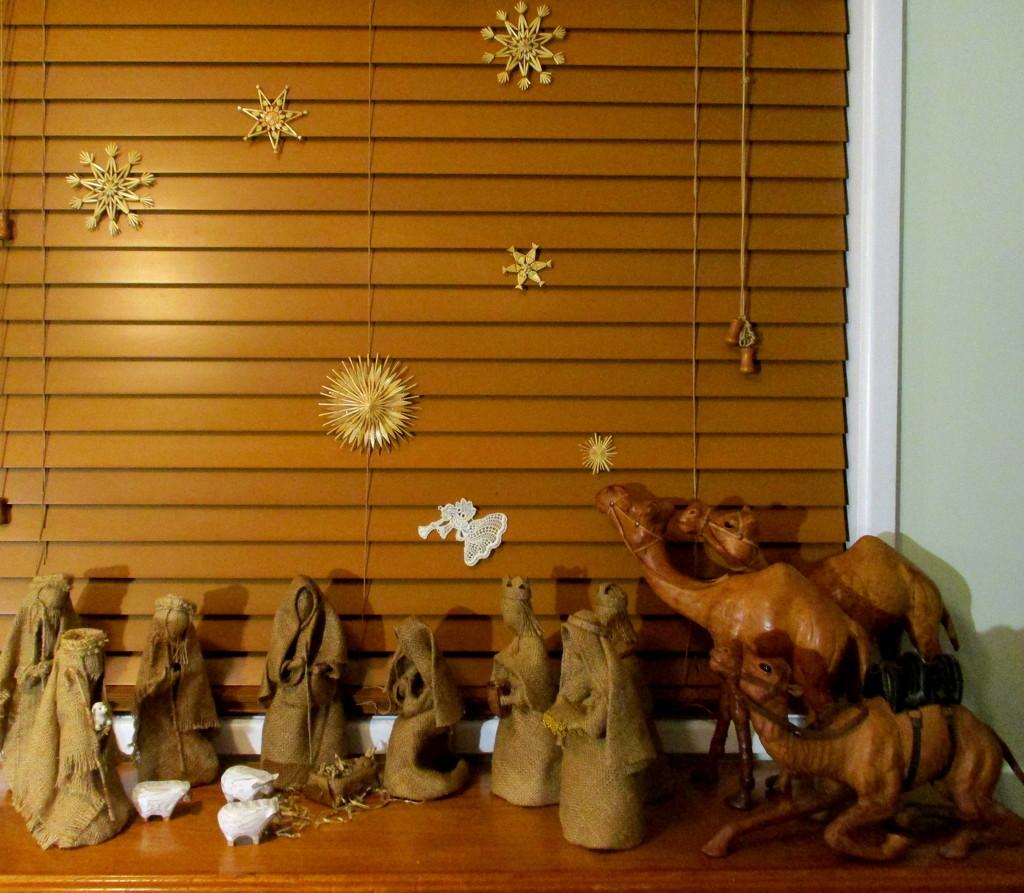 My Nativity Scene.  I made the shepherds on the left by 777margo