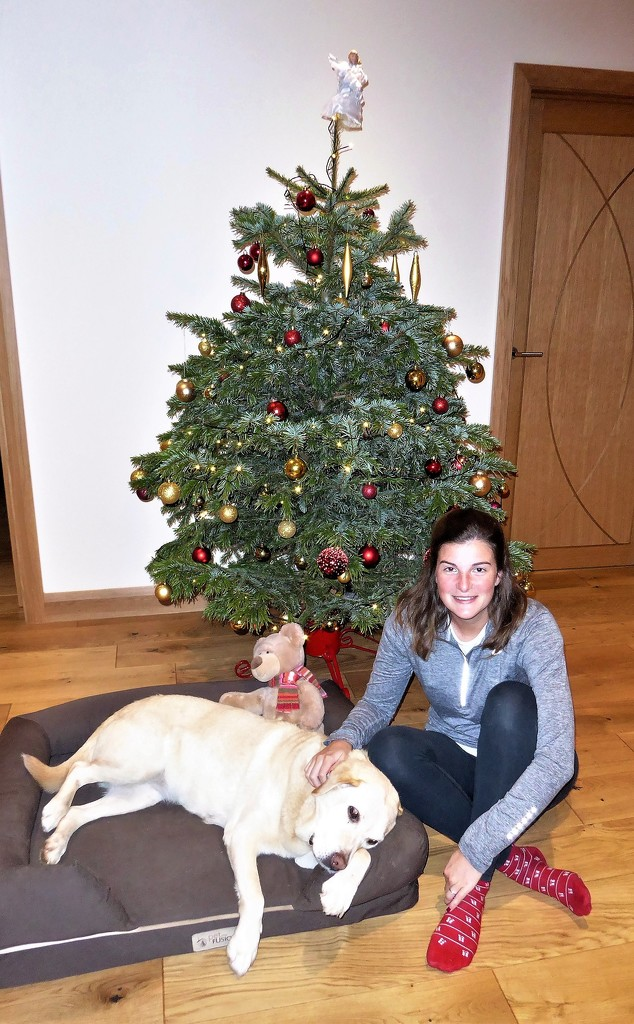 Rebecca, Millie and the Tree  by susiemc