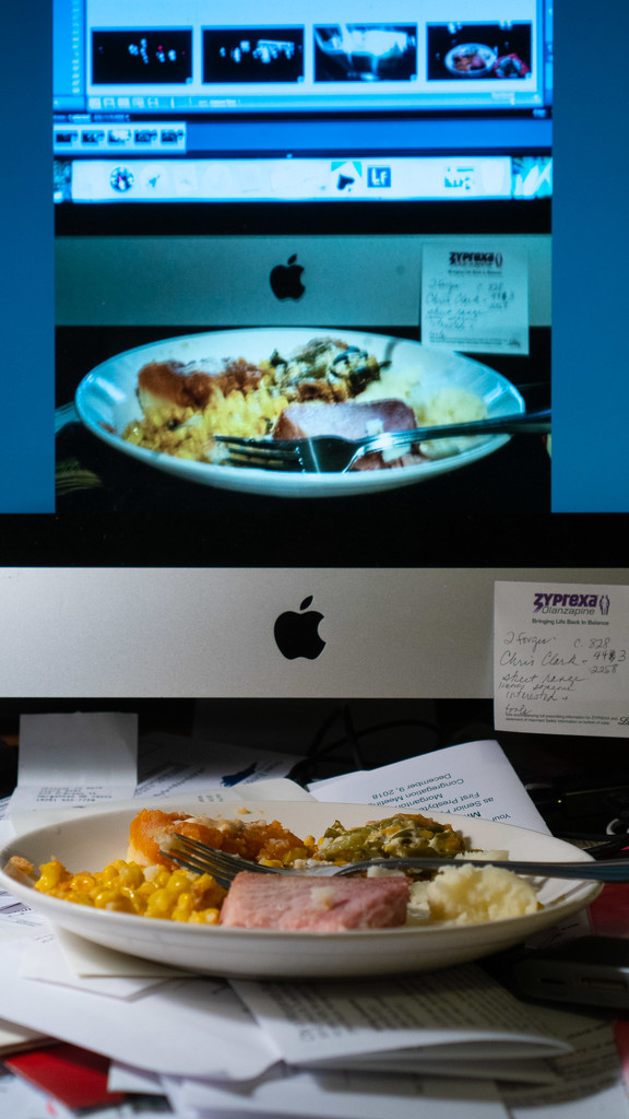 Supper in front of the computer by randystreat