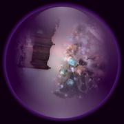26th Dec 2018 - Christmas tree in a purple globe