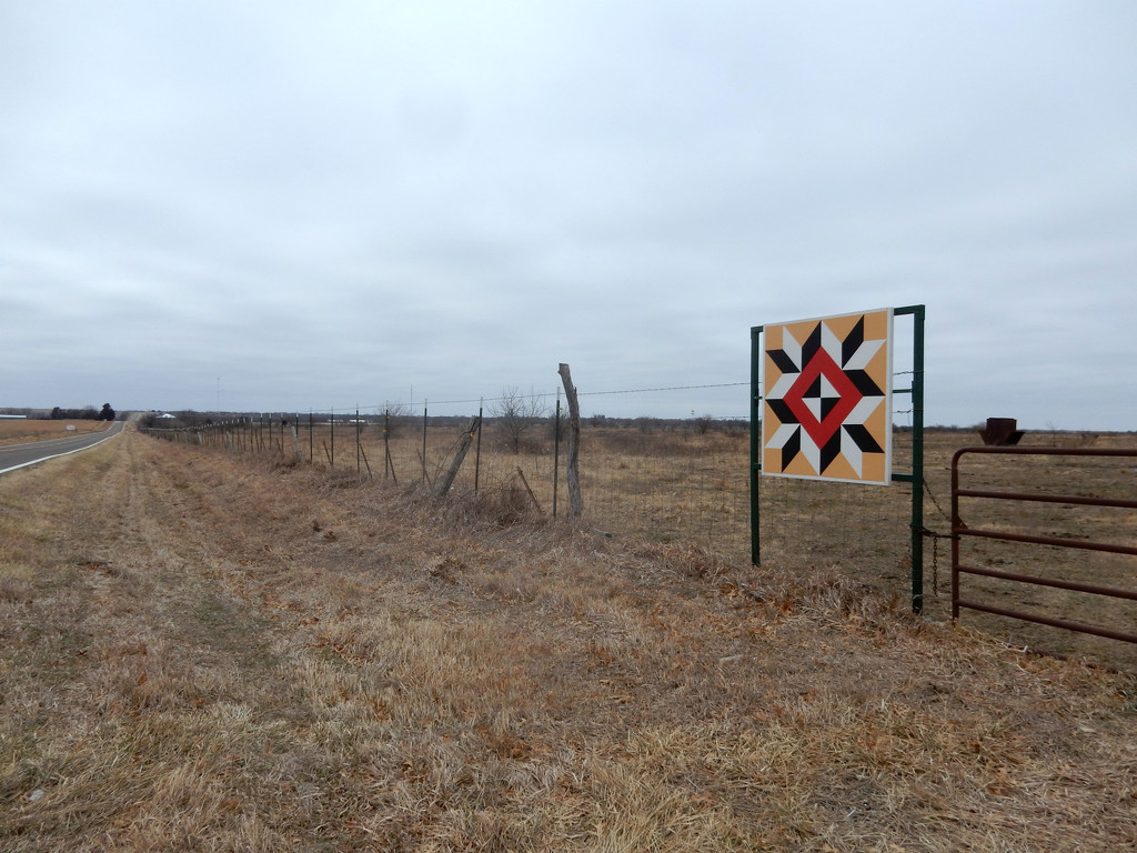 Fence Line Barn Quilt by mcsiegle