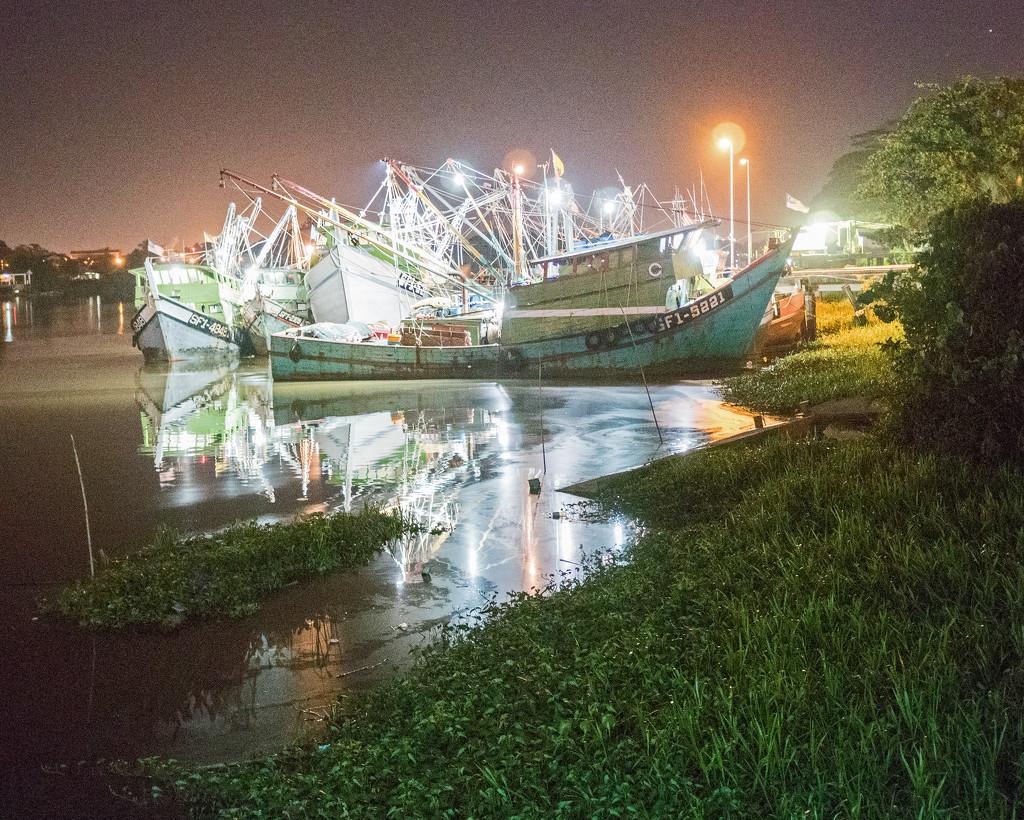 Fishing boats, Kuching by ianjb21