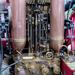 Steam powered fire engine - detail