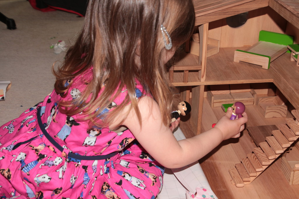 Handcrafted Dolls house by kiwinanna
