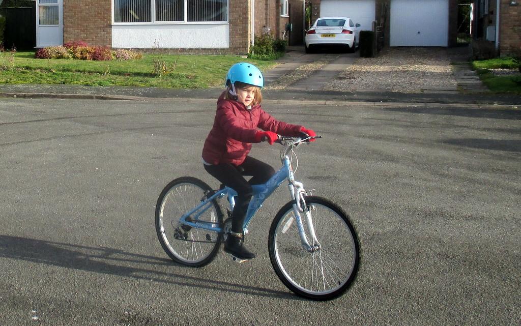 "Granddaughter On ""Big"" Bike by g3xbm"